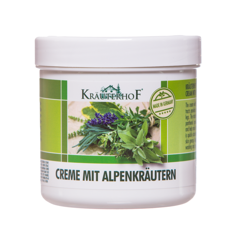 Krém s alpskými bylinkami na nohy